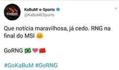 巴西RNG分部KuBuM发来贺电:美妙的消息