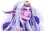 魔兽世界官推绘画作品:月之女神艾露恩