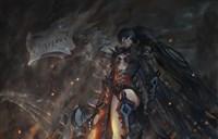另类风格绘画:死亡骑士+黑岩+初音=伪魔兽