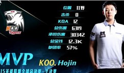 总决赛数据分析:Hojin第一打野,猴爷KDA爆表