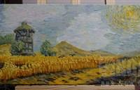 魔兽玩家原创油画作品:西部荒野漫步日记