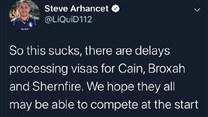 TL老板发推:因签证处理问题或将错过LCS