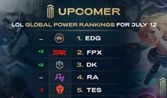 全球战队排行榜:EDG高居第一 DK重回前五