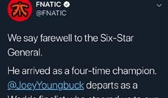Fnatic官宣:主教练Joey Youngbuck离队
