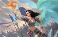 魔兽玩家绘画原创:冰火交融的霜火箭-吉安娜