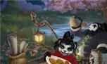 国内玩家精彩原创画作 老陈和丽丽的中秋节