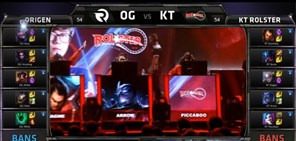 S5比赛图集:小组赛第七日 OG vs KT