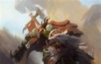 魔兽绘画:霸气的狼骑兵冲锋