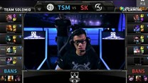 S4全球总决赛B组小组赛第1轮 TSM vs SK回顾