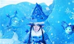 寒冬精灵璐璐COS:皑皑白雪中的美丽精灵!
