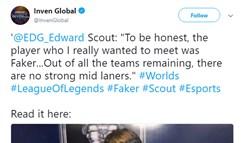 Scout:说实话 我最想遇到的选手是Faker