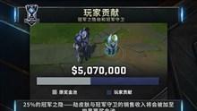 全球总决赛奖金池更新:已增加到507万美元