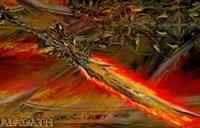 国外玩家绘画:魔兽金属另类风格武器