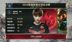 S9小组赛:Crisp秀绝活 FPX拿下第三胜