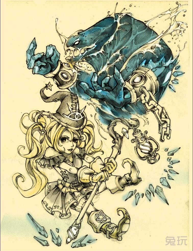 魔兽玩家作品:手绘画作 暗夜精灵女盗贼(3)