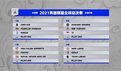 全球总决赛抽签结果:FPX与DK同组EDG再战T1