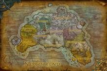 暴雪高清重制诺森德世界地图