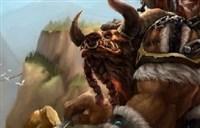 魔兽玩家绘画:正在制作图腾的牛头人萨满
