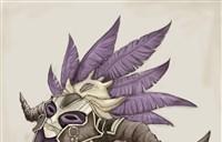 魔兽玩家绘画:美美的羽蛇神面的少女一枚