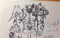 魔兽玩家原创:黑白手绘小吼 死亡的凝视