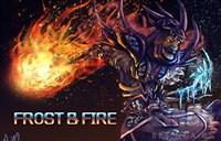送给一位朋友画的法师绘画:FROST & FIRE