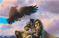玩家原创画作:雷克萨与他的野兽伙伴们