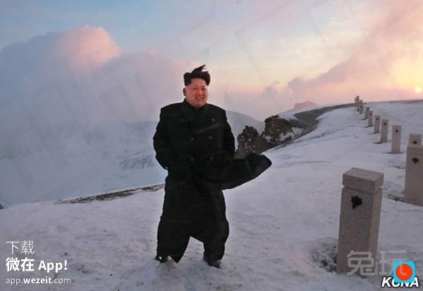 据说金三胖爬朝鲜最高峰 这图到底p没p过
