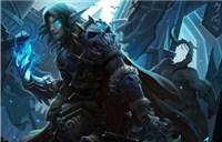 玩家原创画作:冰冠堡垒下的血精灵死骑