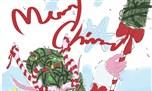 玩家同人画作 圣诞治愈系露娜拉萌化你的心