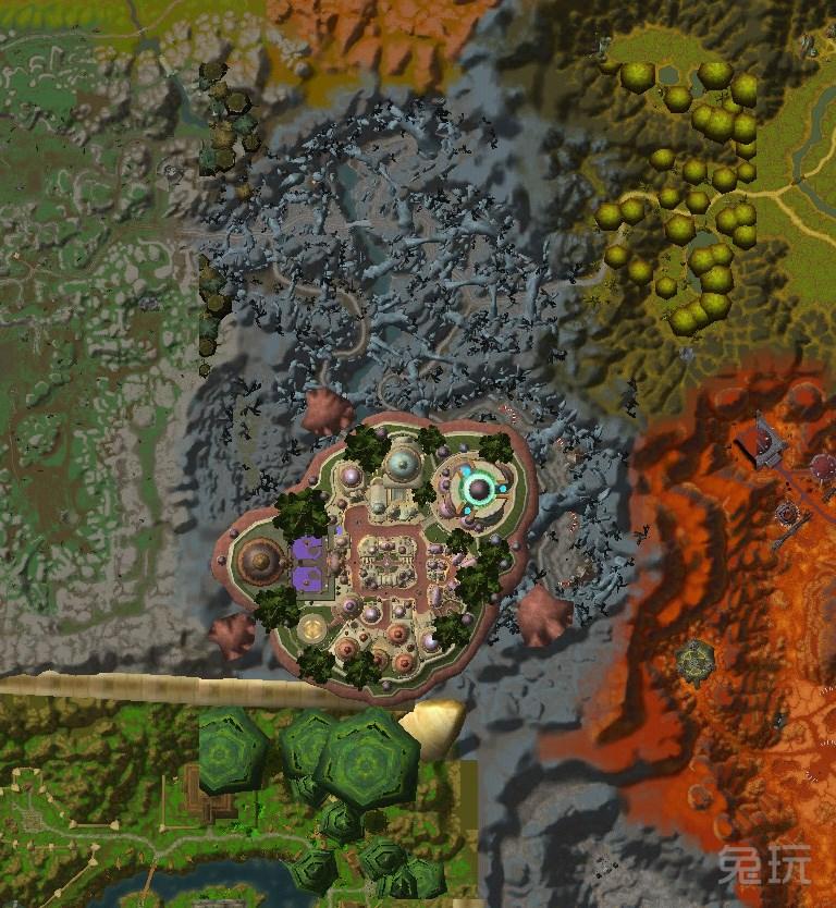 """军团再临新地图""""破碎群岛""""卫星图预览"""
