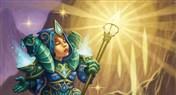 明光祭司炉石传说新卡原画和魔兽世界集换式卡牌