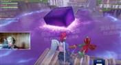 紫色立方体滚进战利湖融化 湖面变跳床
