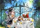 DNF同人美图欣赏 法师萝莉的闲适下午茶时光