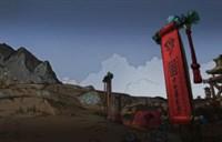 忠实魔兽玩家的绘画 手绘昆莱山地图风景