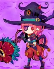 DNF同人美图欣赏 戴着眼罩拿着花杖的魔道学者