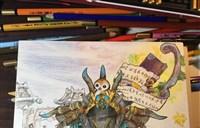 魔兽玩家原创:好友手绘小D与佩佩合影