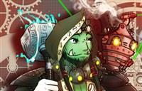 魔兽玩家原创绘画:机械萨-为了动力战锤!