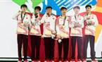 2018亚运会英雄联盟项目夺冠颁奖升国旗视频