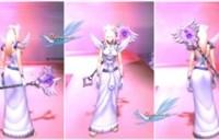 布甲幻化:牧师白色长袍高贵风格幻化