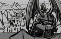 7.0动画分镜图:蛋总城楼站 女王救瓦里安