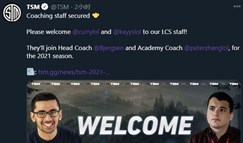 TSM官宣新教练协助比尔森:Curry和Kayys