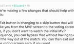 "MVP界面计划中的改动 ""跳过开场""的按钮"