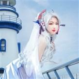 碧蓝-欧根花嫁